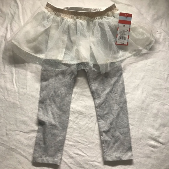 Cat & Jack Other - Cat & jack leggings with tutu size 2t